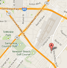 Google-Map Bennett Immigration Newport Beach California